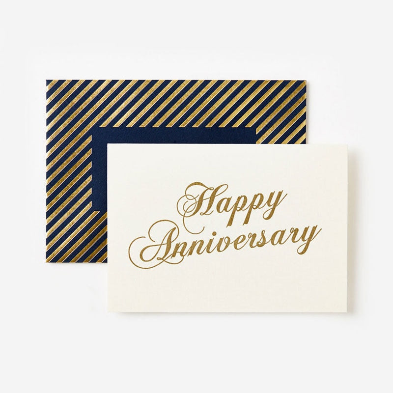 Gold Anniversary Scroll Card