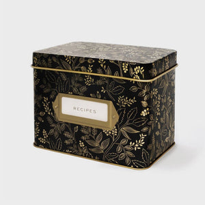 Rifle Paper Co. Tin Recipe Box