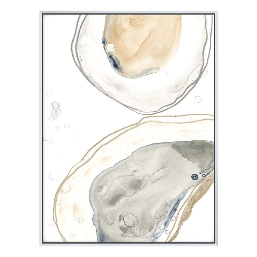 Canvas print of abstract watercolour painting of oysters