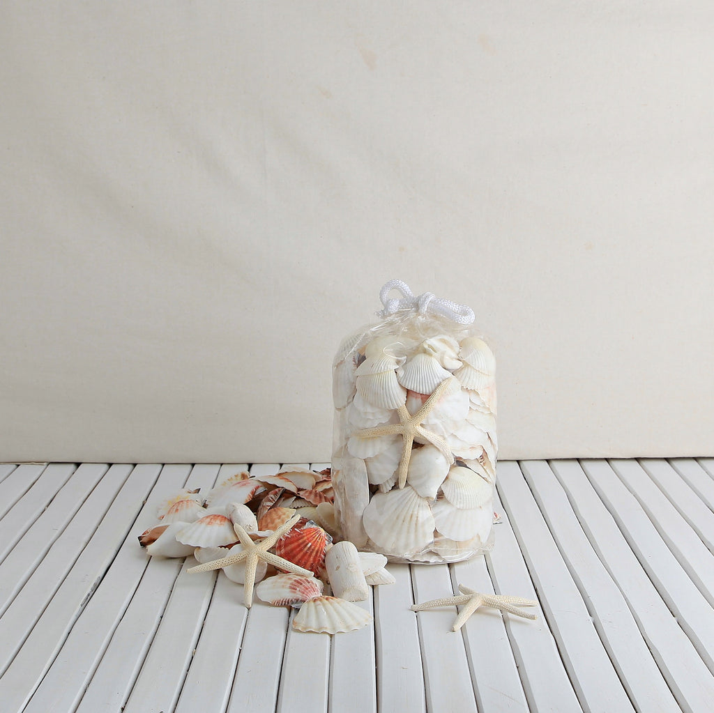 Mix White Shell Beach Bag