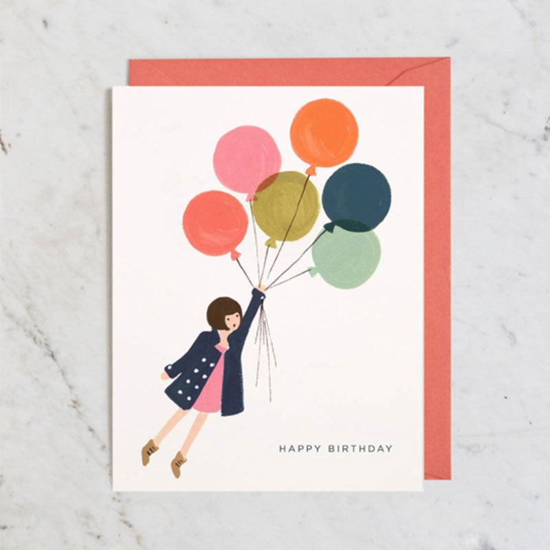 Fly Away Birthday Card