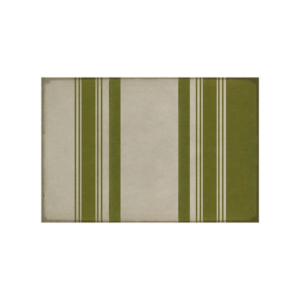 Organic Stripes Green & White Mat