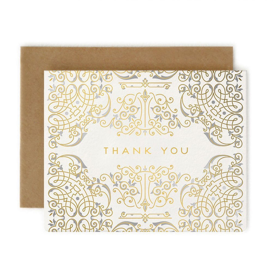 Art Deco Thank You Card