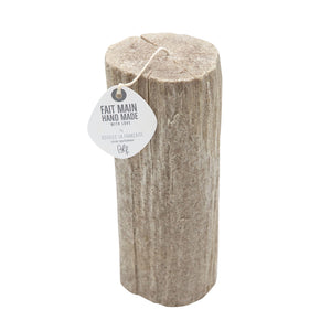 Light wood tree log candle