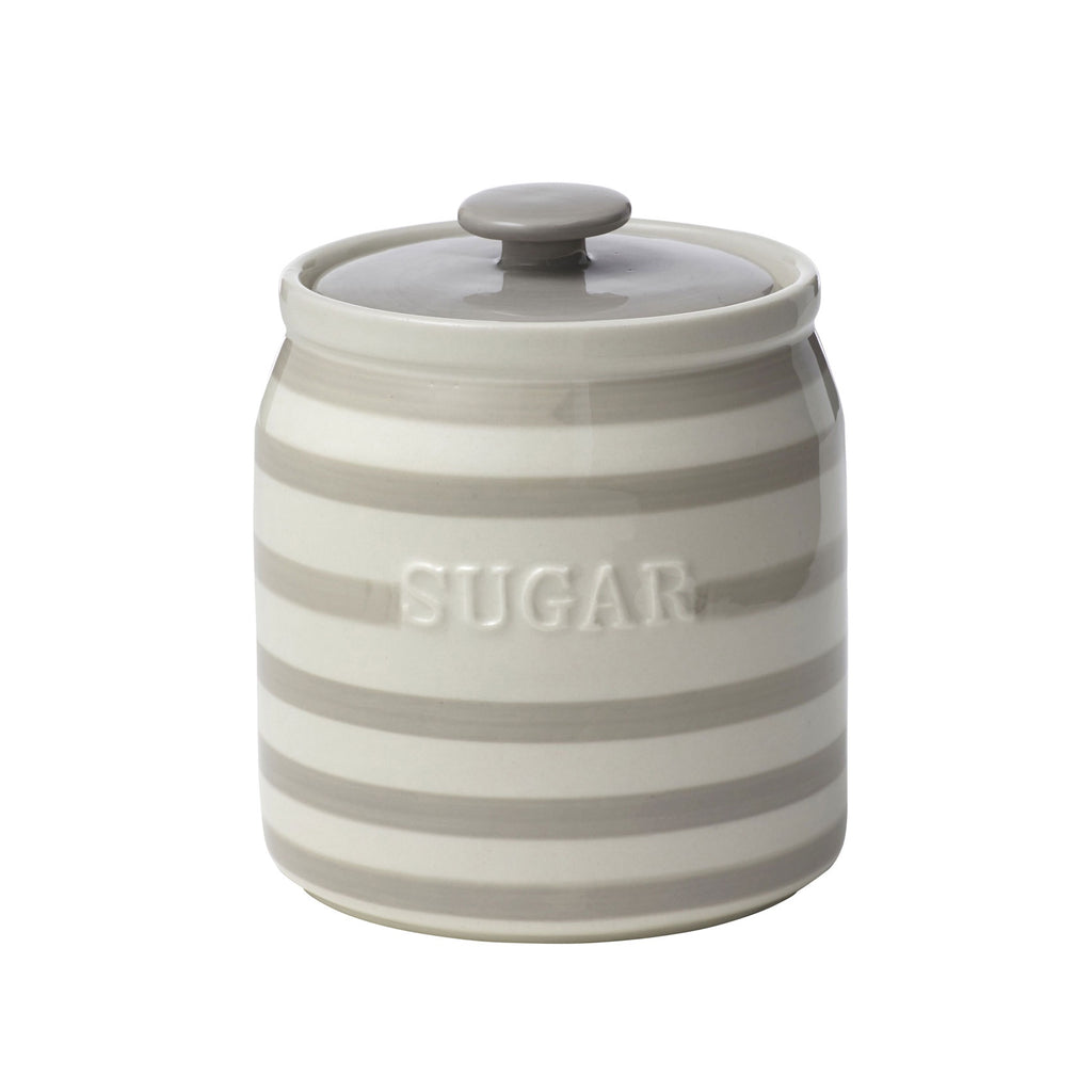 Striped Sugar Canister