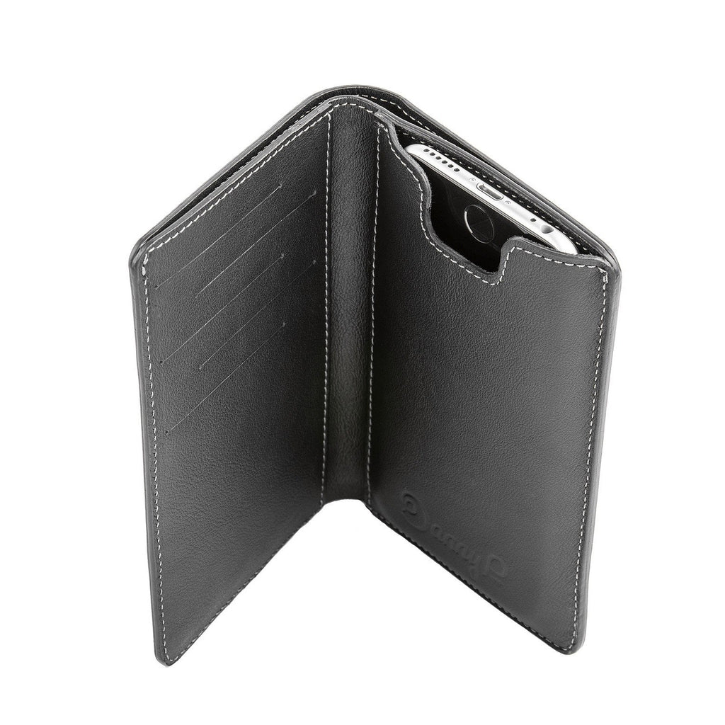 Danny P Leather iPhone Wallet Black