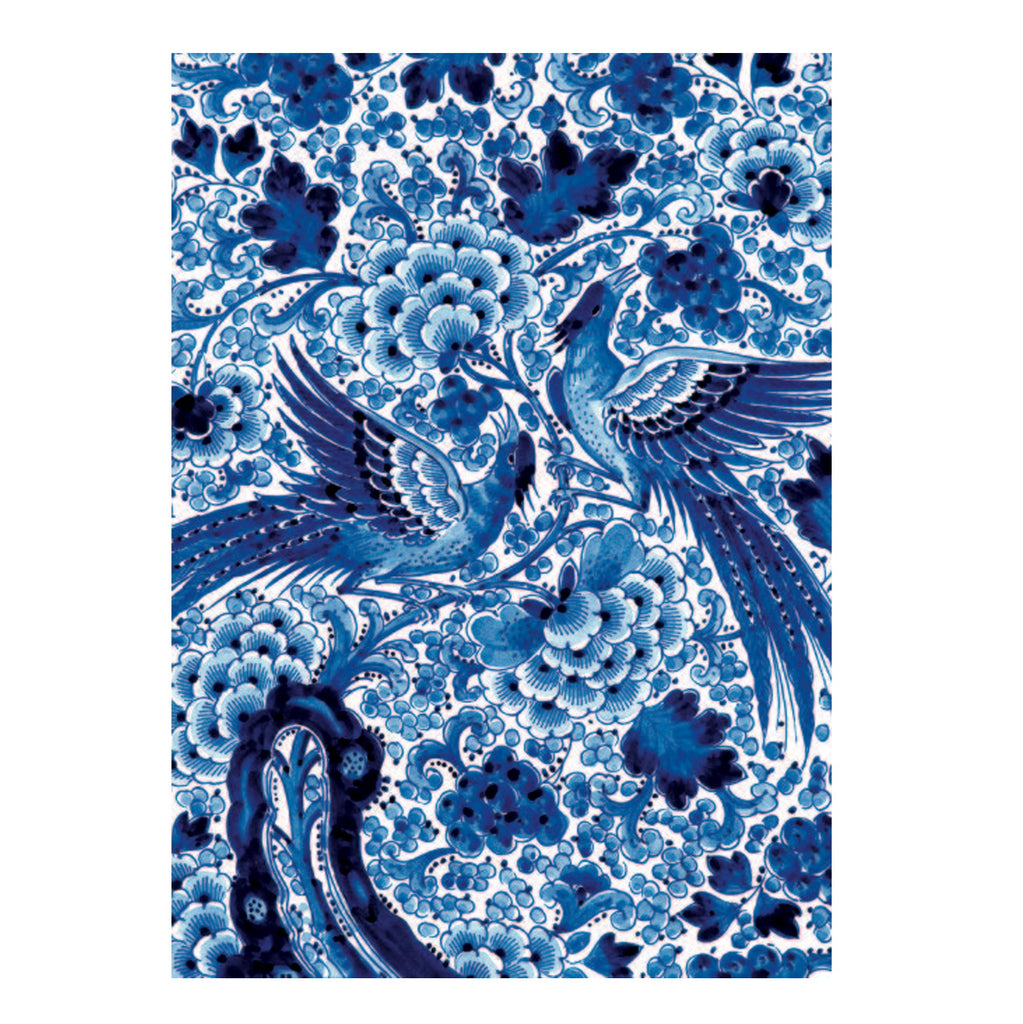 Bekking & Blitz Card Blue Floral Birds