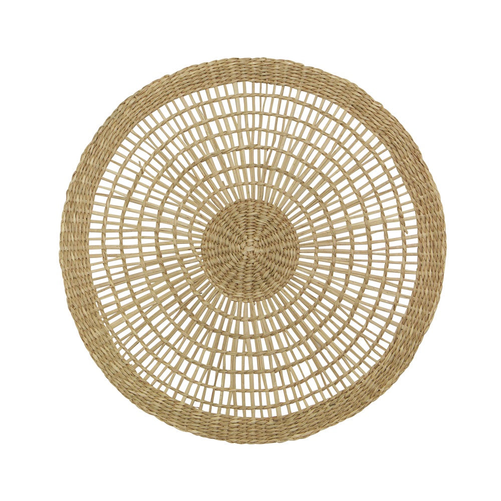 Woven Round Placemat Natural