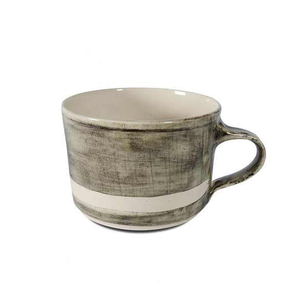 Squat Mug Black Beach Sand