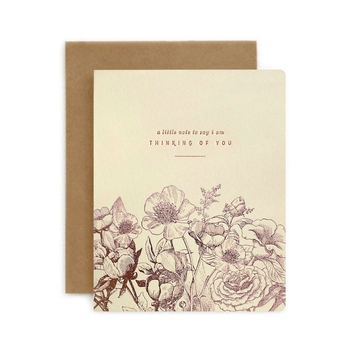 Botanical Thinking of You Card