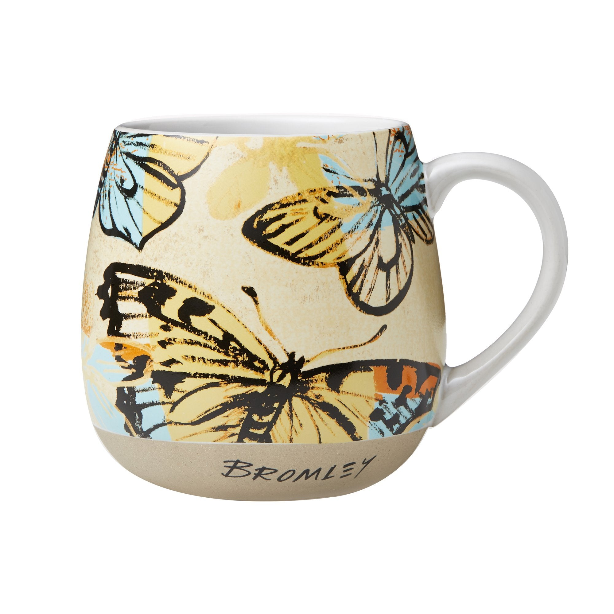 Hug Me Mug Bromley Butterflies Yellow