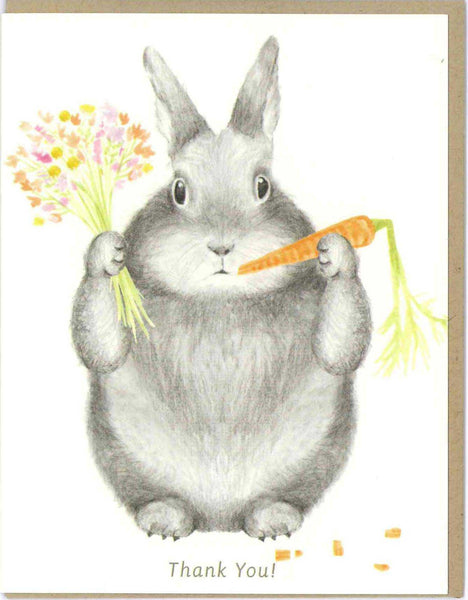 Bunny Thank You Card