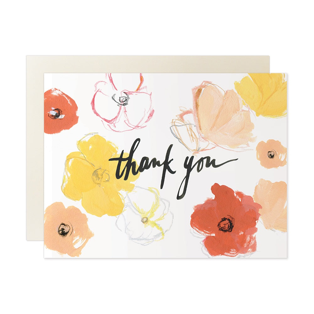 Poppies Thank You Card