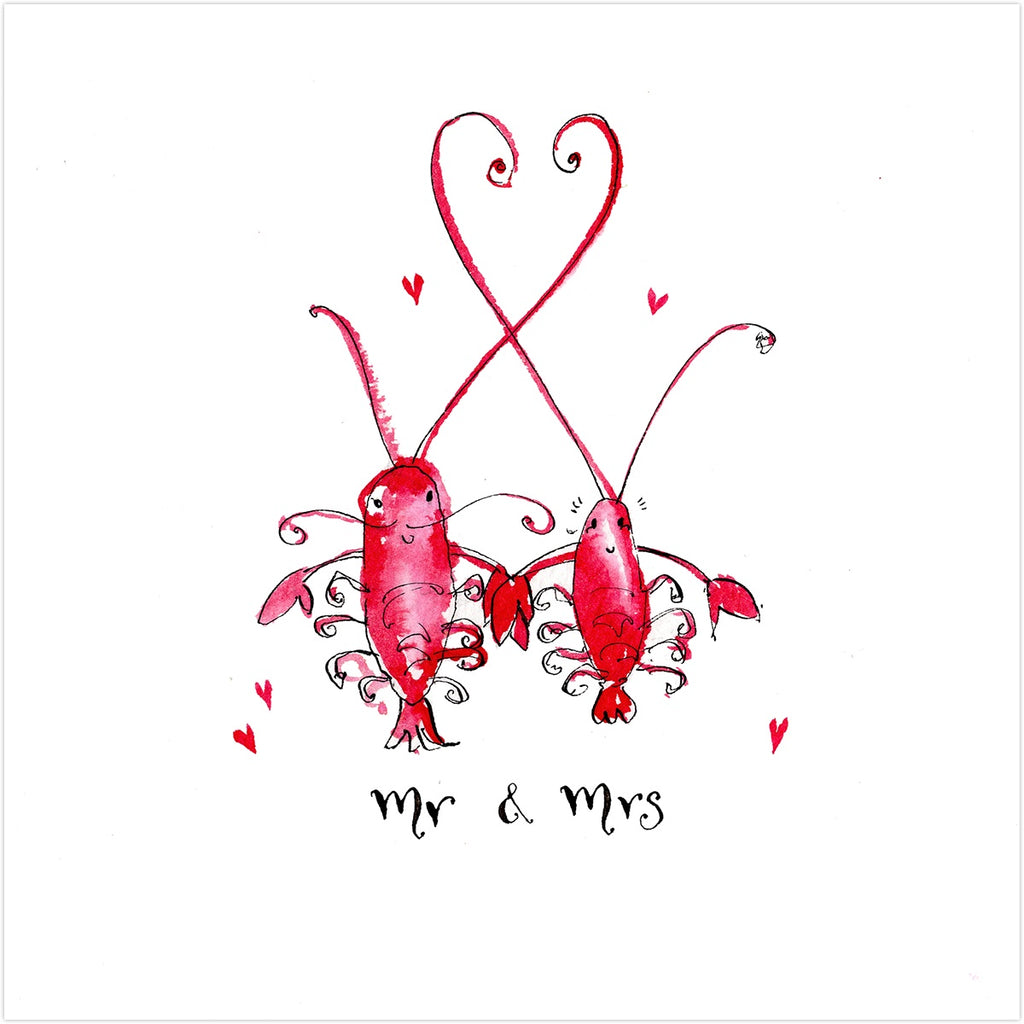 Mr & Mrs Lobster Card