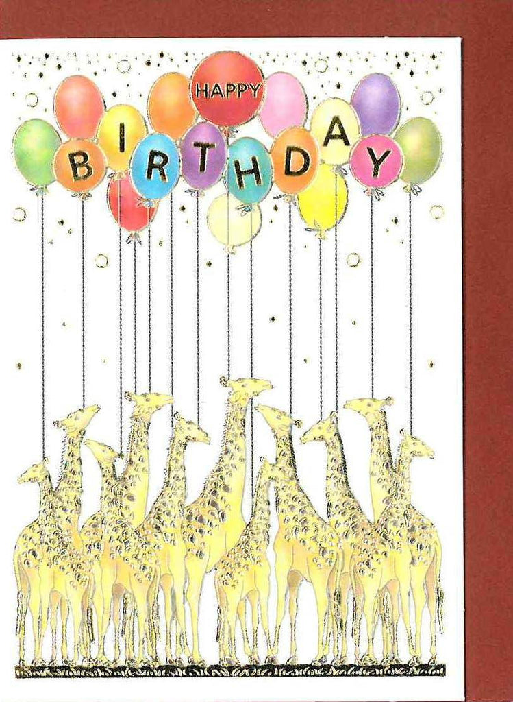 Birthday Giraffes Card