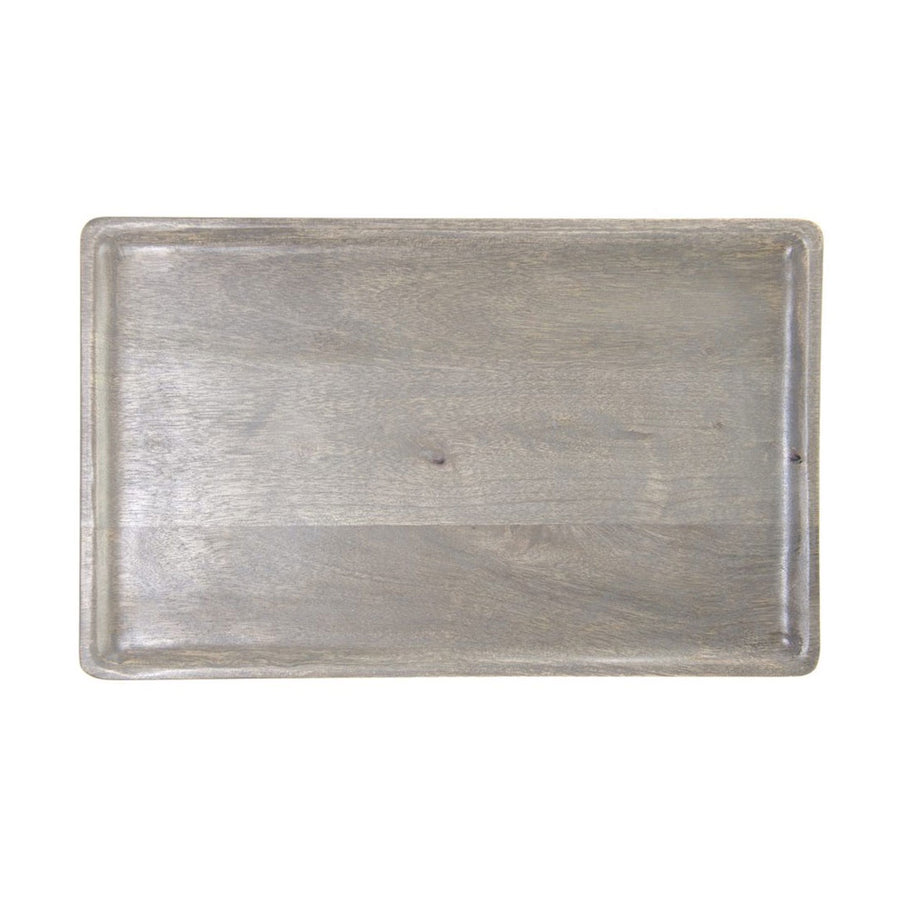 Mangowood Serving Board Rect Grey