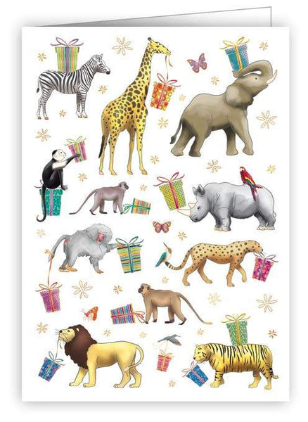 Birthday Jungle Animal Card