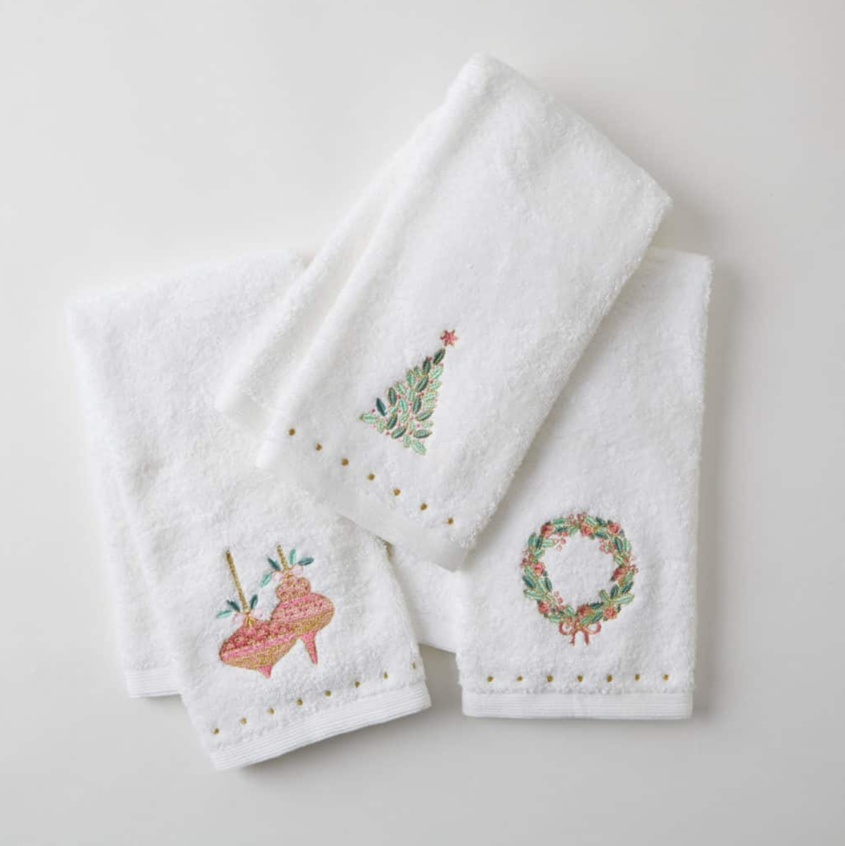 Christmas Bauble Hand Towel
