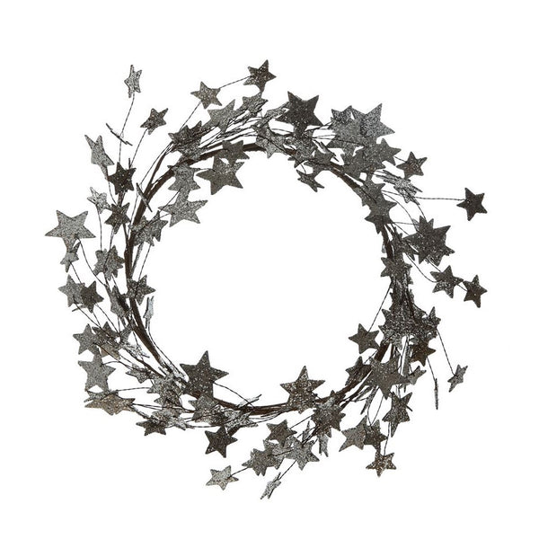 Round Glitter Star Wreath