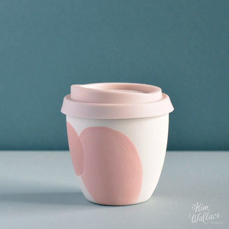 Reusable Takeaway Cup 8oz Blush Pink