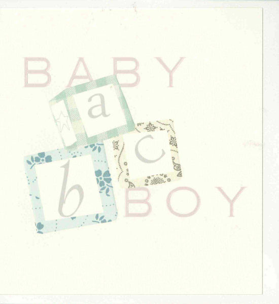 ABC Baby Boy Card
