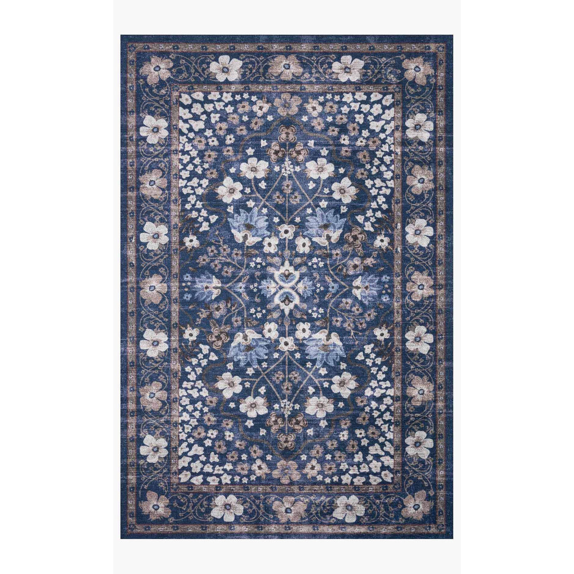 Rifle Navy Floral Rug