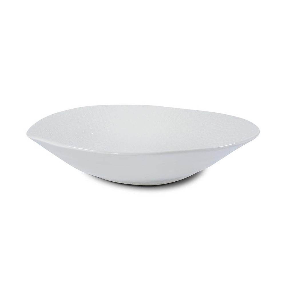 Large Salad Bowl White Lace