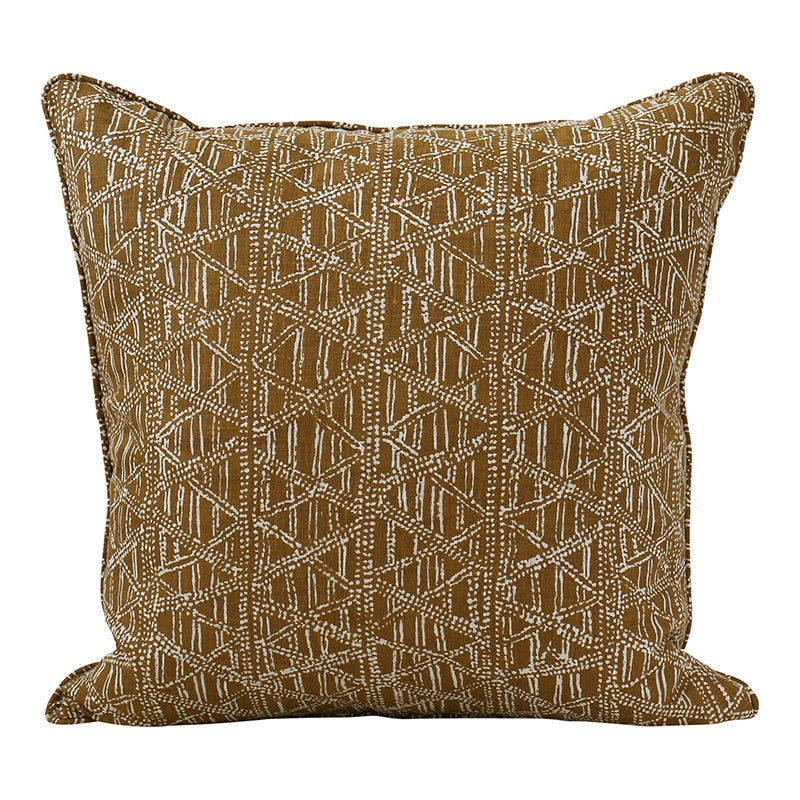 Petra Tobacco Linen Cushion