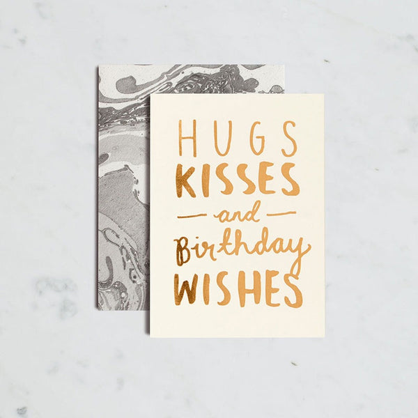 Hugs Kisses Birthday Wishes Petit Card