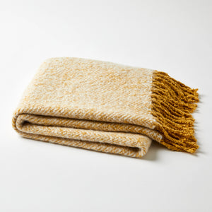 Herringbone Mustard Throw