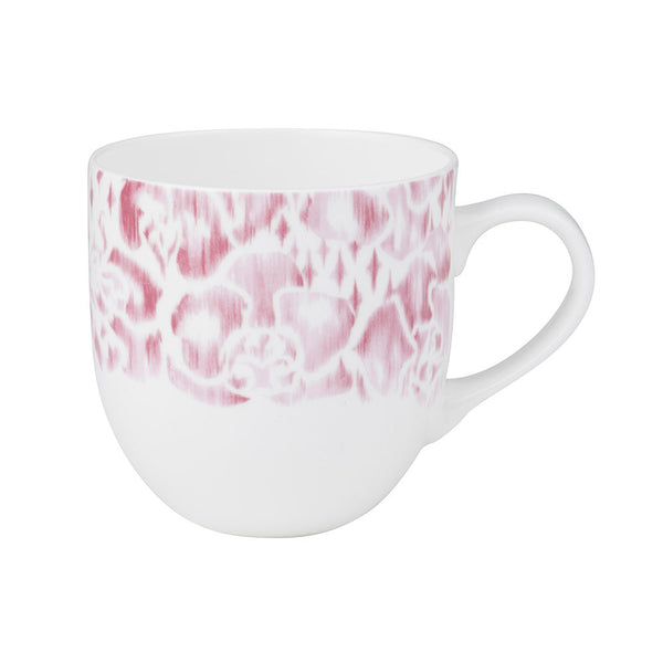 Tara Dennis Store - Rose Mug - Pink and white abstract floral design
