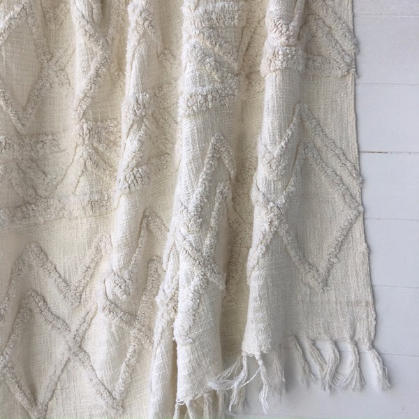 Tufted Cotton Throw
