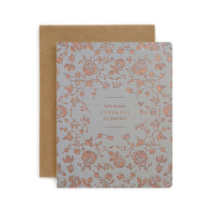 Botanical With Sympathy Card