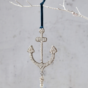 Beaded Anchor Ornament