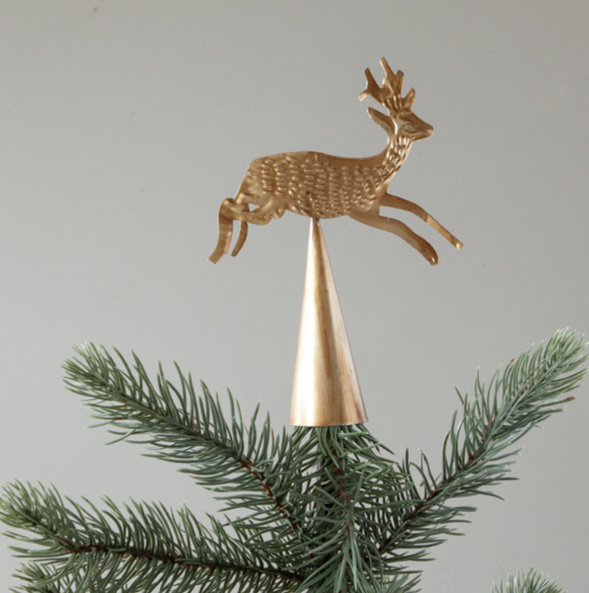 Metal Running Reindeer Tree Topper