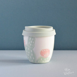 Reusable Takeaway Cup Pink Cactus