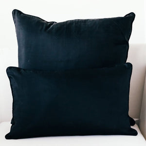 Bahira  Silk Cushion Black