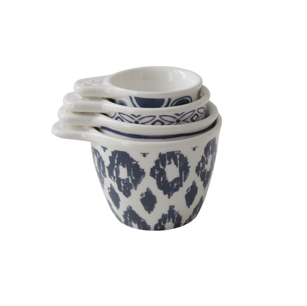 Ikat Stoneware Measuring Cups