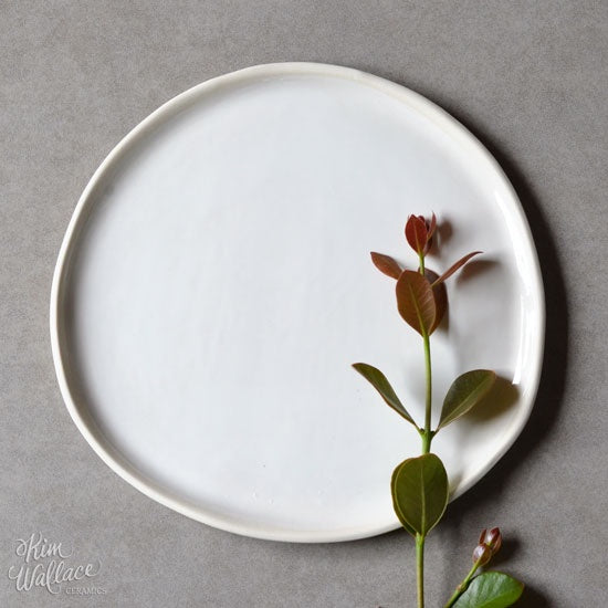 Pebble Serving Plate Classic White