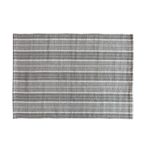 Charcoal Multi Stripe Recycled Cotton Mat