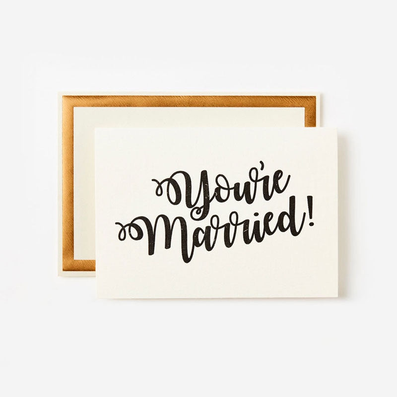 You're Married Card