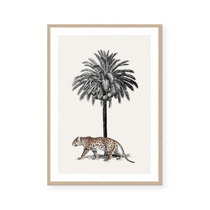 Antique Leopard Framed Print