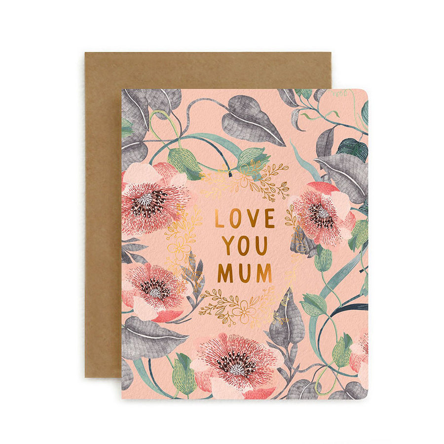 Blomstra Love You Mum Card