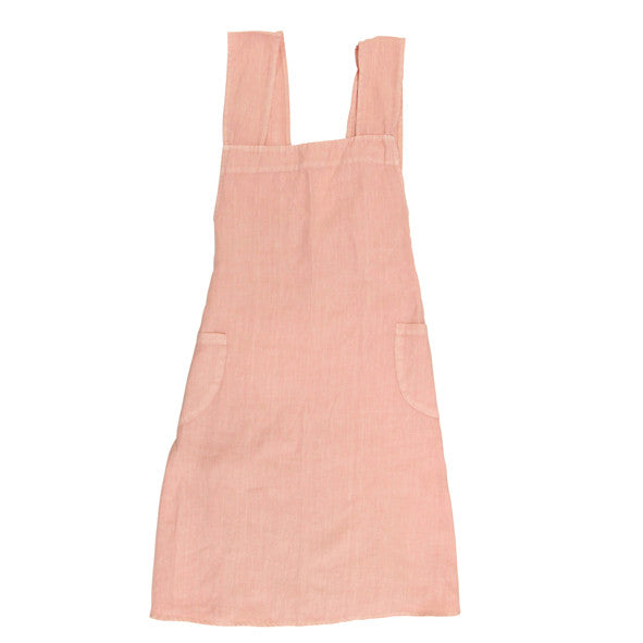 Cross Back Linen Apron