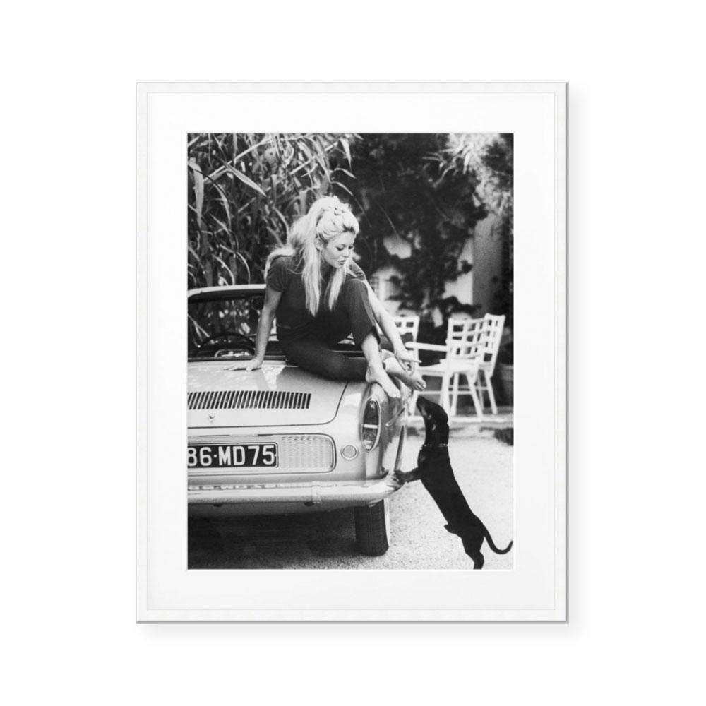 Brigitte Bardot at Home Art Print