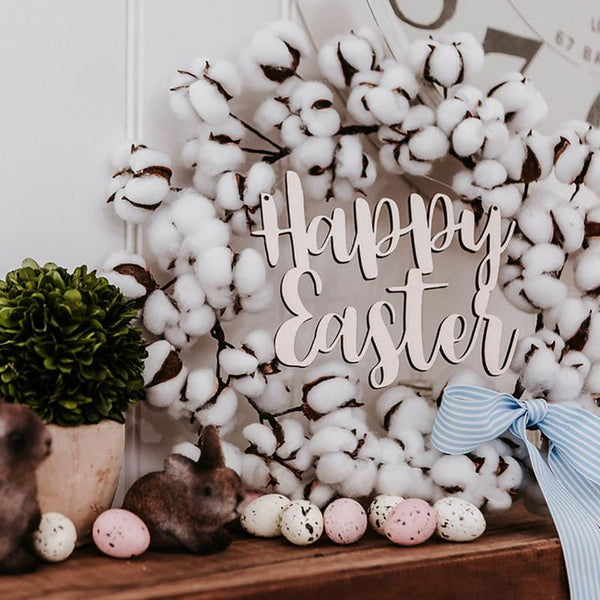 Happy Easter Wreath Sign