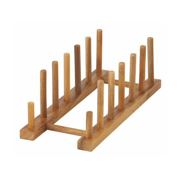 Acacia Wood Plate Stand