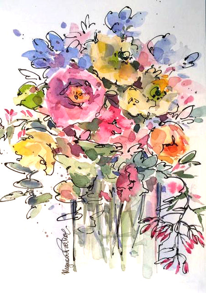 Beginner's Watercolour Workshop Spring Flowers 28th October 2017
