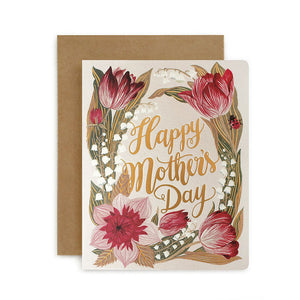 Folk Happy Mothers Day Card