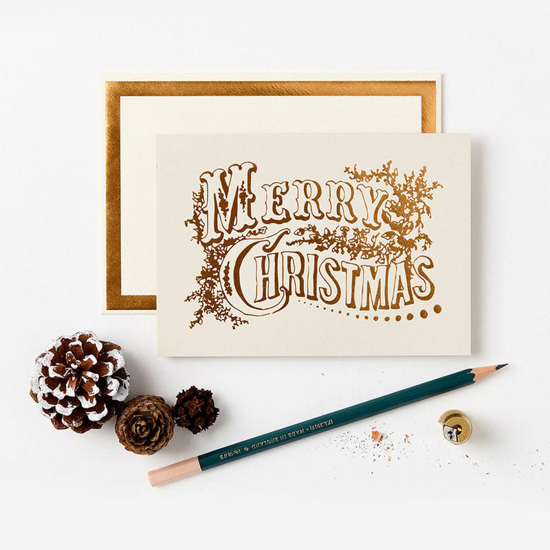 Vintage Christmas Foiled Card